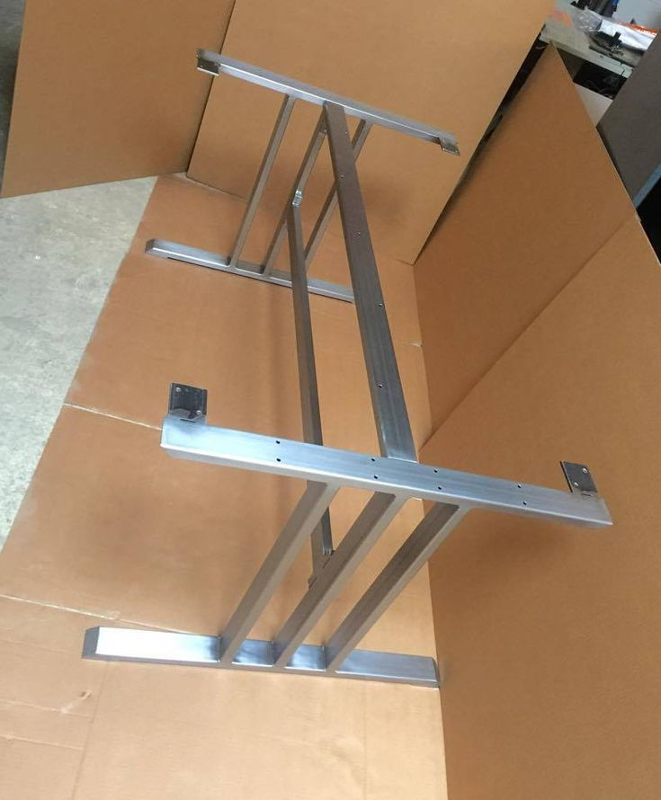 Design dining table base sturdy and heavy duty steel for How to make a sturdy table base