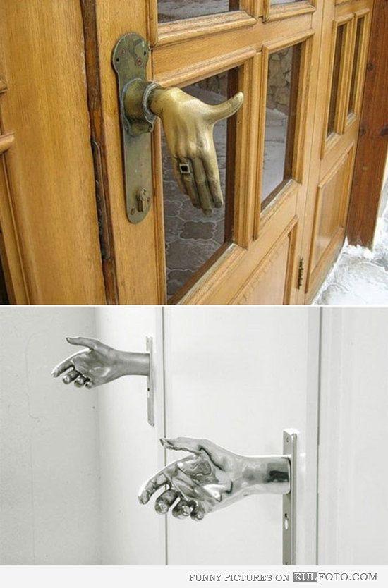 Hand Door Knobs Funny Door Knobs Looking Like Hands To