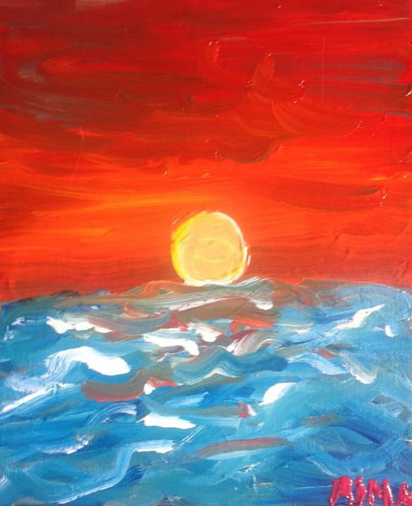 Sunset by the ocean - Alma gallagher
