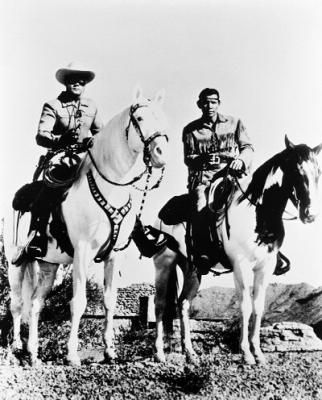 The Lone Ranger and Tonto (also Silver and Scout). Some childhood entertainment.