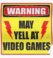 Gamer Warning Poster