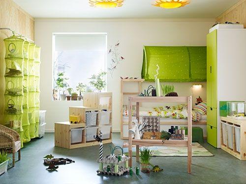 Babyzimmer ideen grün  Die besten 25+ Kinderzimmer grün Ideen auf Pinterest | Kinder ...