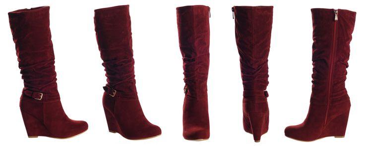 Punaiset Kiilakorkosaappaat - Delicious Red Wedge Boots