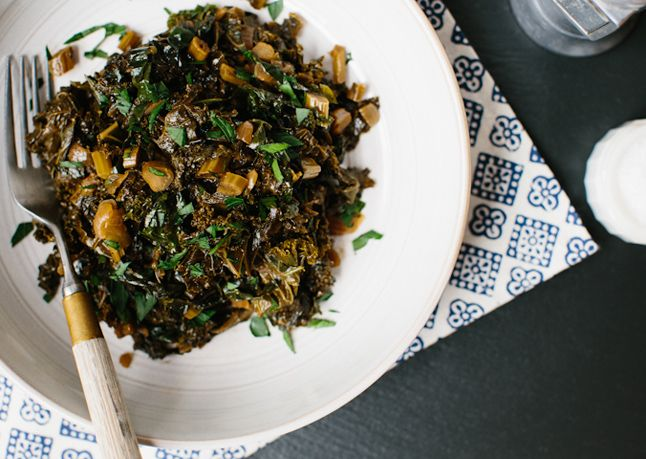 See #2 braised kale in this article. Amazing way to eat kale!