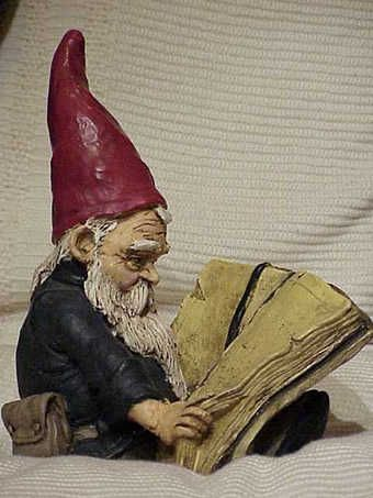 Gnome reading. Perfect for the bookworm's garden. I don't have this guy but I have 2 reading faeries...