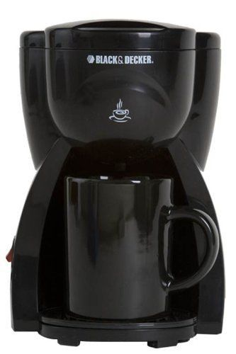Black & Decker DCM15 1 Cup Coffee Maker 220-240 Volts (Not for use in USA) by Black Decker. $35.36. 1 Cup Coffee/ Tea Maker perfect for an individual or travel Brew Strength Control Black in Color Ceramic cup which is stylish and hygienic Water Level Indicator Permanent Filter Keep Warm Plate Indicator Light Swing Out Filter Basket Sneak-A-Cup Feature; Allows serving while in operation European Asian style Power cord