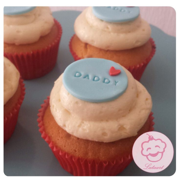 Vaderdag cupcakes, fathersday cupcakes, witte chocolade cupcakes -  Lataart -www.facebook.com/lataart1
