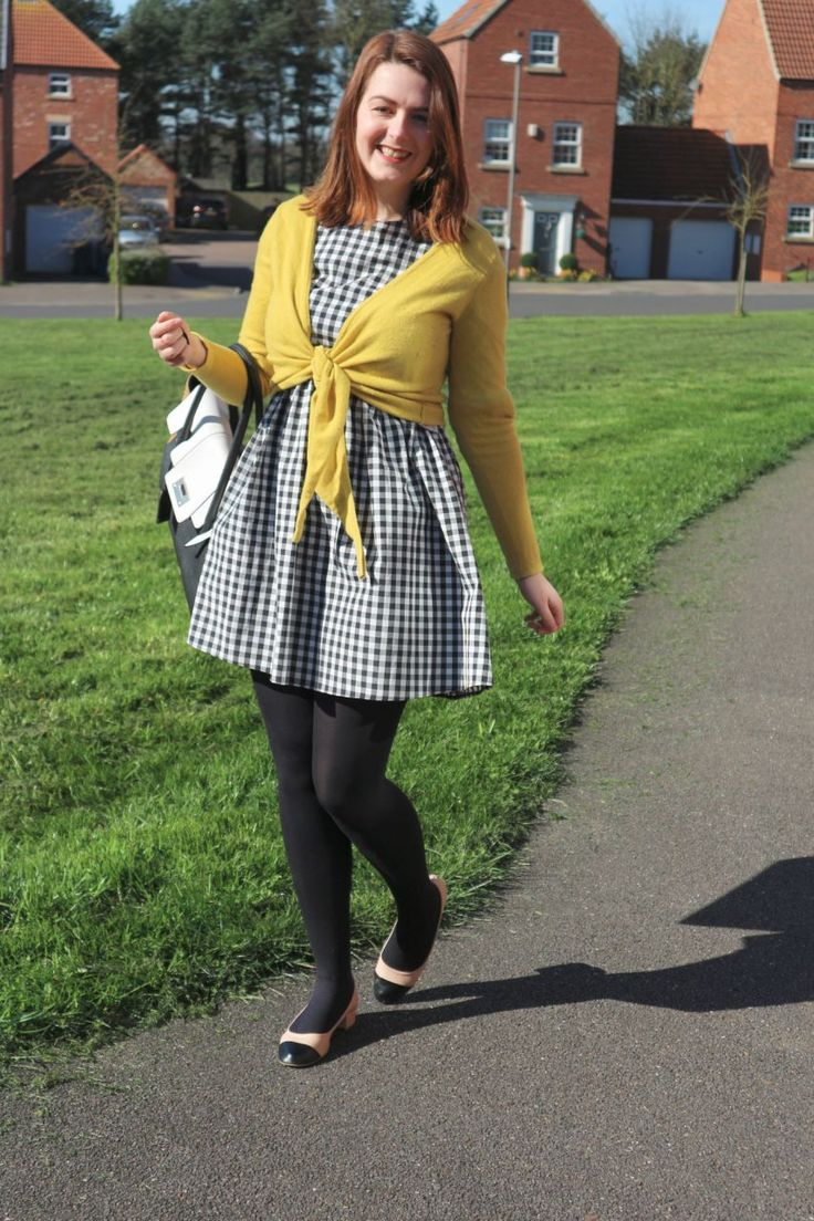 Oversized check Primark dress outfit