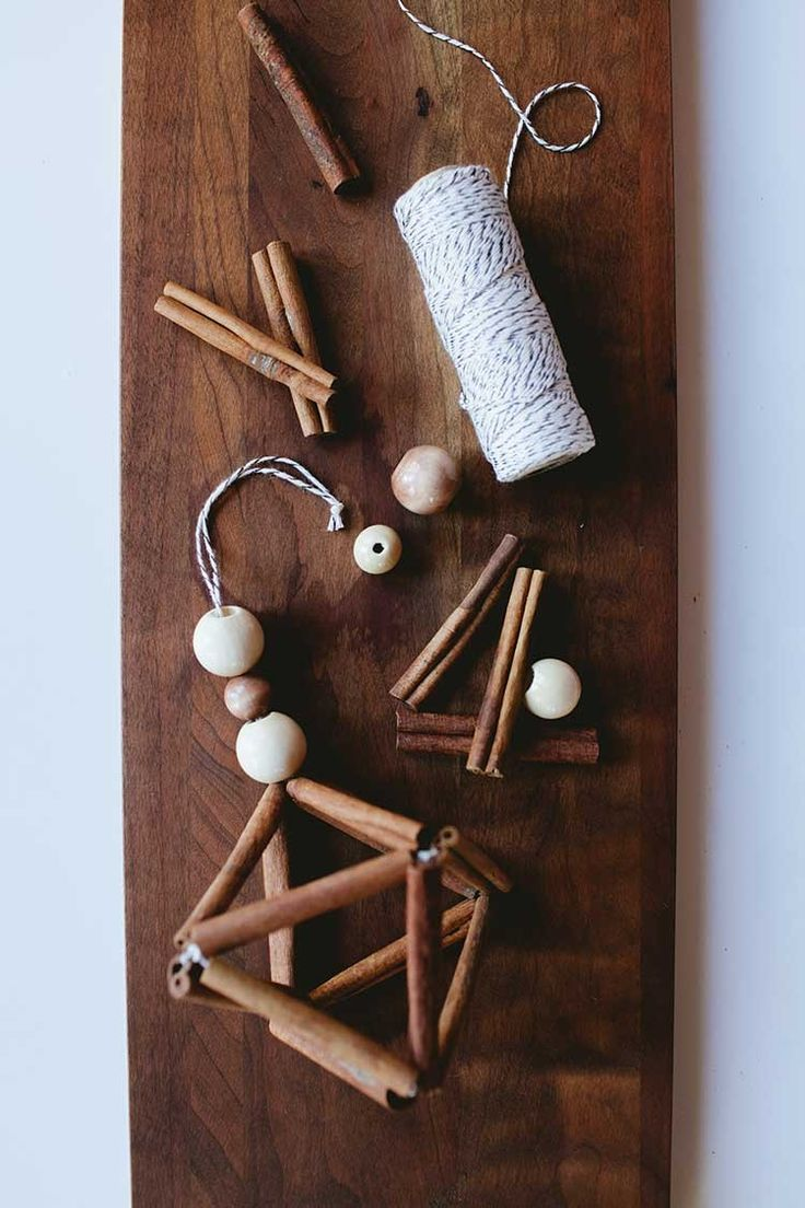 DIY cinnamon stick himmeli - great inspiration for the holidays and Christmas