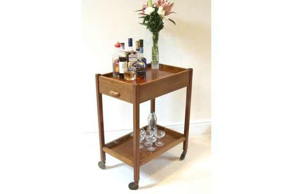 Versatile All Original 1950s Tea/Drinks Or Hostess Trolley | Vinterior   #midcentury #modern #20thcentury