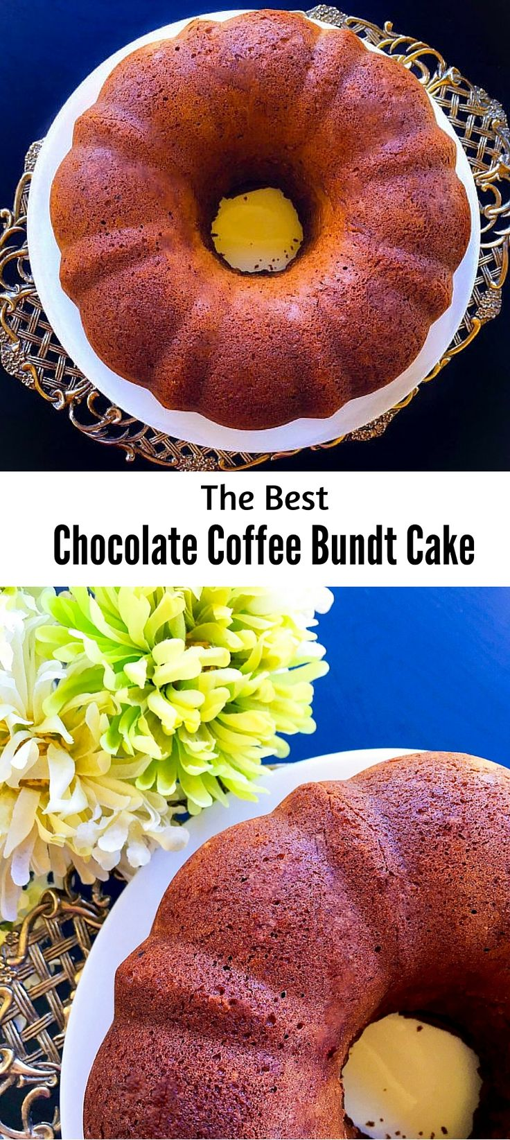 The Best Chocolate Coffee Bundt Cake : #bundt #chocolate #coffee #cake #recipe