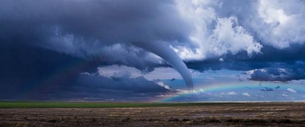 Storm Chaser Captures Rainbow Alongside Tornado in Colorado - ABC News