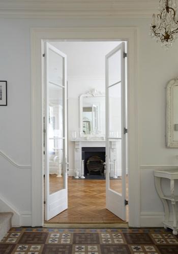 Double height doors, plenty of glass
