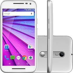 """foto: USADO: Smartphone Motorola Moto G (3ª Geração) DS Colors com HDTV Dual Chip Desbloqueado Oi Android 5"""" 16GB Câmera 13MP - Branco + 2 Capas"""