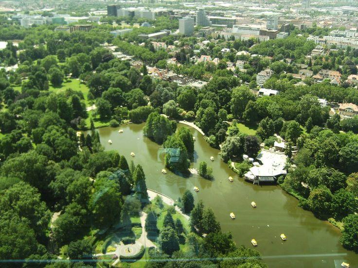 Luisenpark mit Blick auf Mannheim Bilder Stadt/Ort Mannheim