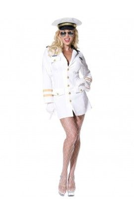 Disfraz de oficial de Top Gun para mujer