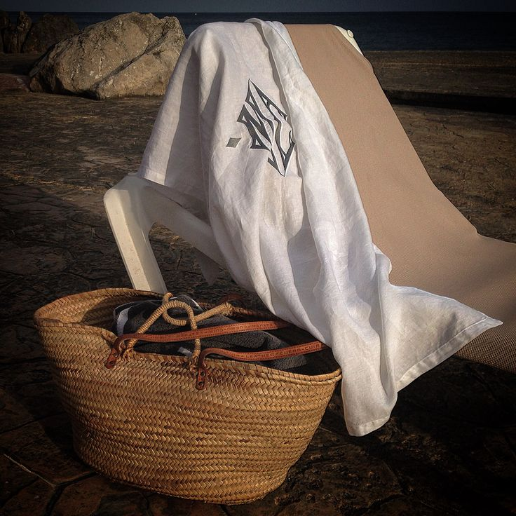 weekend relax with monogrammed sarong #marinacmilano #luxury