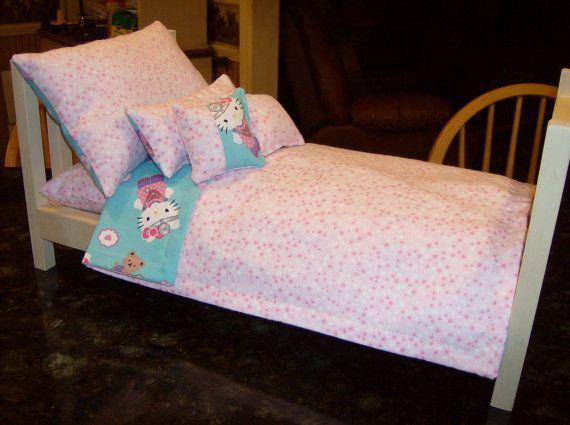 Muñeca de ropa de cama 10 PC con colchón. Hello por GobblerCreek