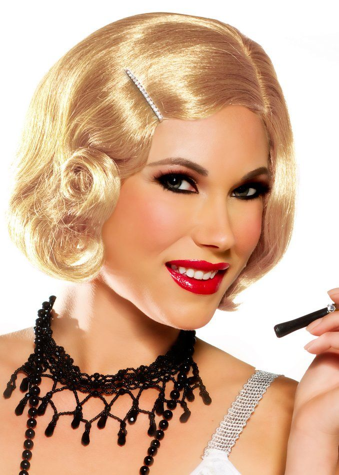 Love this!! Blonde flapper wig Romanian pls