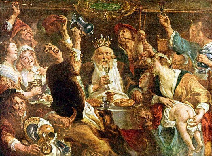 Jacob JORDAENS, The King Drinks, Baroque Flanders. most famous artist after reubens.
