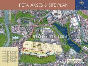 Peta lokasi dan site plan Kota Ayodhya - Ruko Ayodhya Square Tangerang.