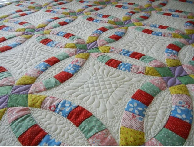 double wedding ring quilt 124 best wedding ring quilts images on 3662