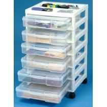 Plastic Chest of Drawers 6 Drawer Cart  #rrrsirgo