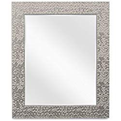 0887789a84ad Wall Beveled Mirror Framed - Bedroom or Bathroom Rectangular frame Hangs  Horizontal   Vertical By EcoHome (20x24