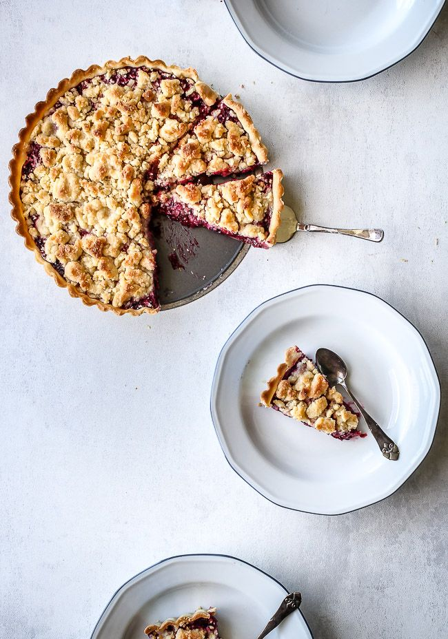 Sweet pie with berries - Tærte med bær