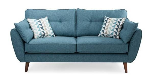 Zinc 3 Seater Sofa 3 Seater Sofa French Connection Sofa Sofa Bed