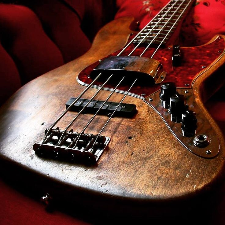 A beautiful 1964 Fender Jazz Bass guitar - four string. BASSes OF LIFE - https://www.pinterest.com/DianaDeeOsborne/basses-of-life/ - PHOTO: Bass Player Magazine on #Facebook - For #HISTORY of this guitar, see my pin https://www.pinterest.com/pin/384987468125335445/ - Soap bar shape pickups were designed to produce a more smooth sound for Jazz. This was first instrument to feature a dual tone circuit: So players could alternate between LEAD and RHYTHM with ease.