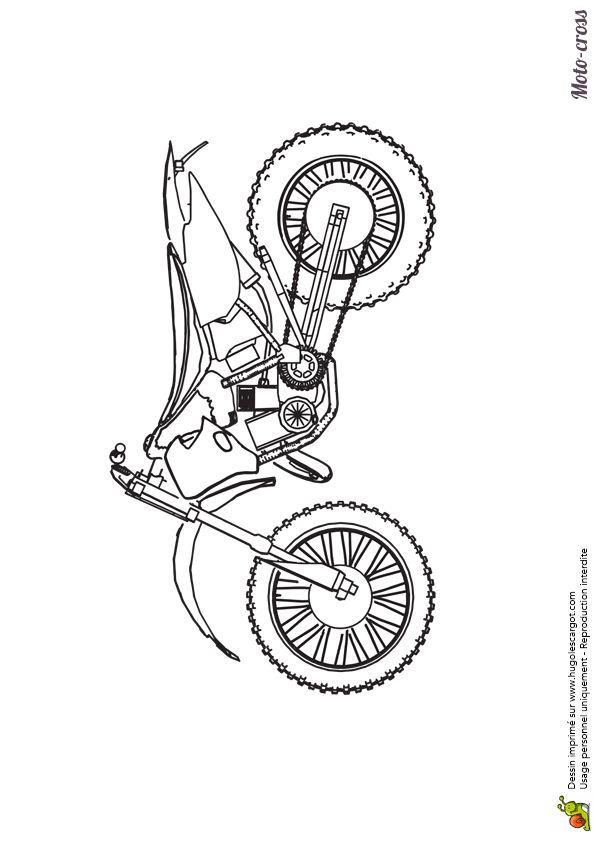 Best 25 coloriage de moto ideas only on pinterest - Coloriage moto cross ...