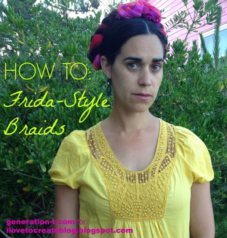 How to weave Frida-style braids using dyed T-shirt material! by Megan Nicolay I via generation-t.com