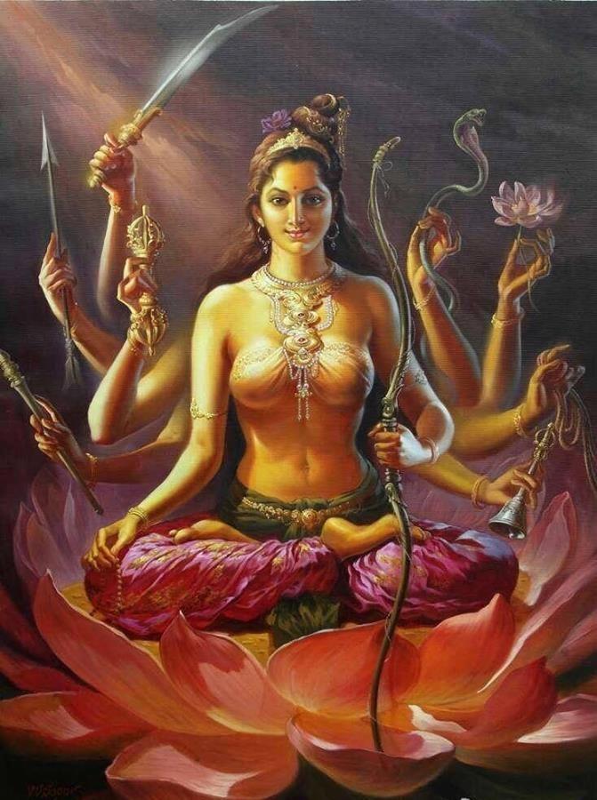 Kankavarṇatārā - Golden coloured Tārā