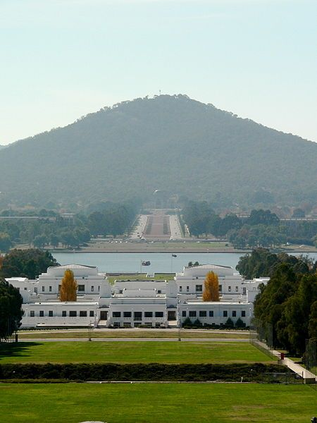 Mount Ainslie from Parliament House - Canberra