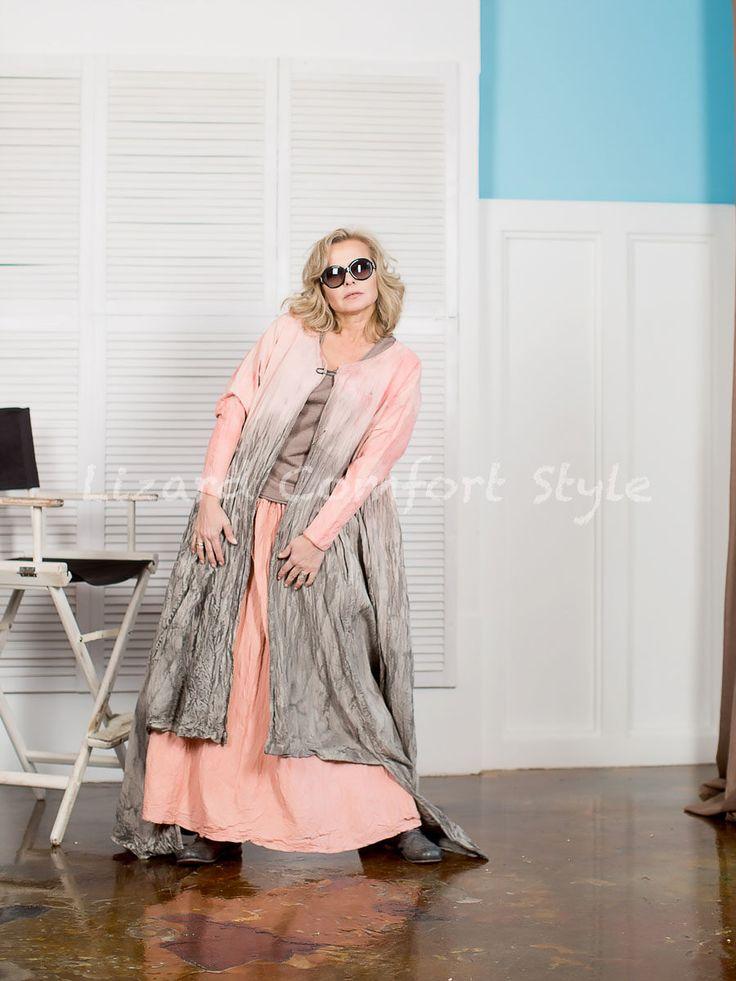 НД2945:Юбка, плотный хлопок ручной окраски, жатка, размер 48/50/52.Платье/халат, плотный хлопок ручной окраски, размер свободный.ДУ. Топ, хлопок/полиэстер, размер 46/48/50.ТИН