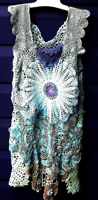 freeform crochet dress