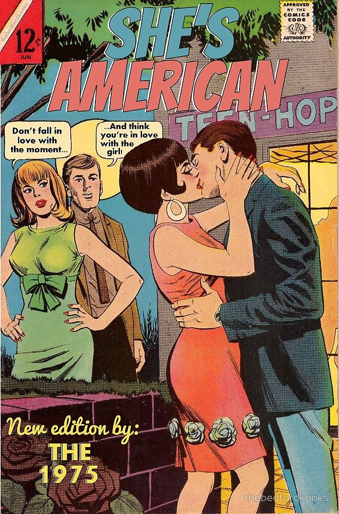 She's American by The 1975 Comic by thebedfordkooks