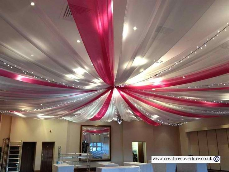 ceiling covering for events - Gossamer Fabric