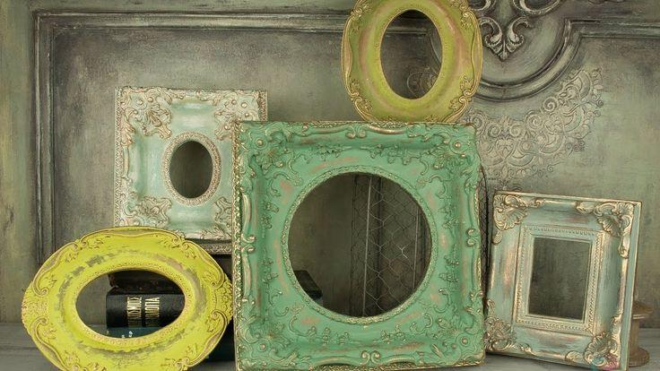 TUTORIAL: Αντικέ κορνίζα ρητίνης - Antique resin frame