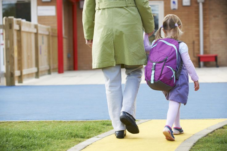 Parent Taking Child To Pre School