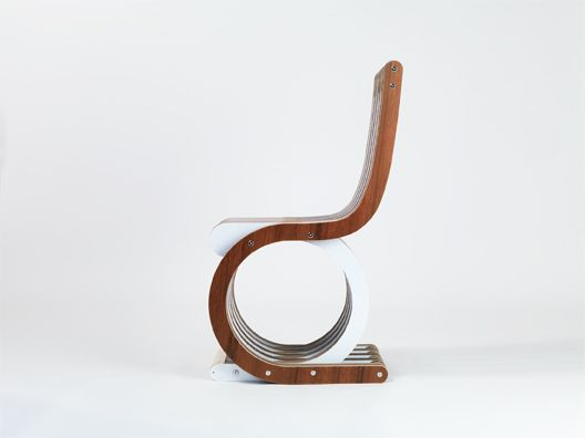 Thinking to a sailing boat...Twist Chair with wood finishes by Lessmore - design Giorgio Caporaso
