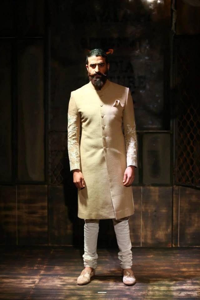 By designer Sabyasachi. Shop for your wedding trousseau, with a personal shopper & stylist in India - Bridelan, visit our website www.bridelan.com #Bridelan #Indiangroom #Sabyasachi