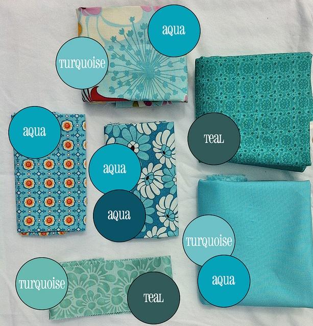 Aqua Vs Teal Turquoise