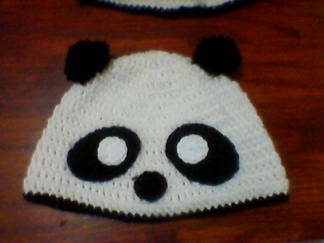 Gorro oso panda al Crochet