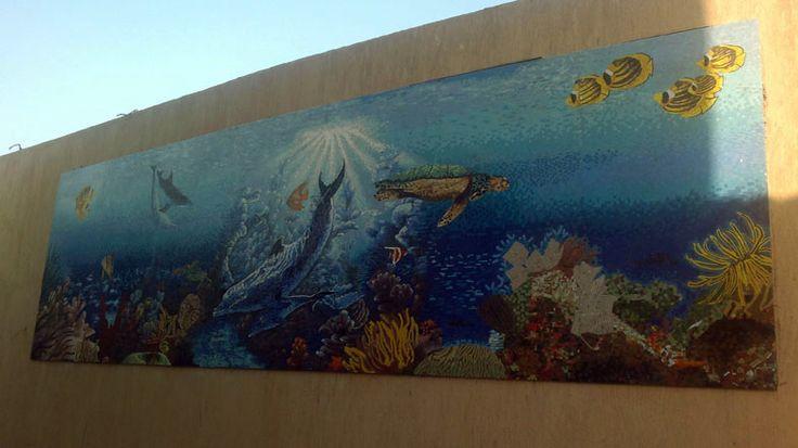 Mosaic aquarium..