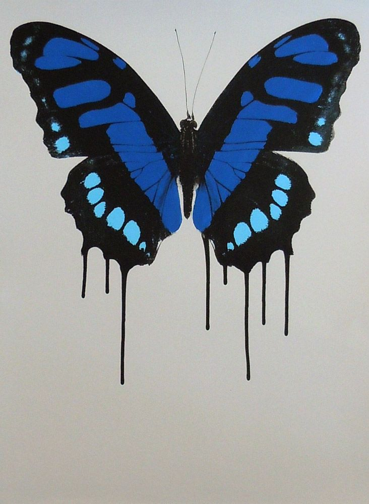 Parnell Gallery artist Anna Stichbury Weeping Wings - Blue Print http://www.parnellgallery.co.nz/artworks/artist-anna-stichbury/weeping-wings-blue/