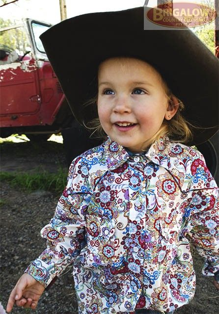 Girls 100% Cotton White Floral Shirt! 4052A | Girls Shirts | Girls | Brigalow Country Clothing