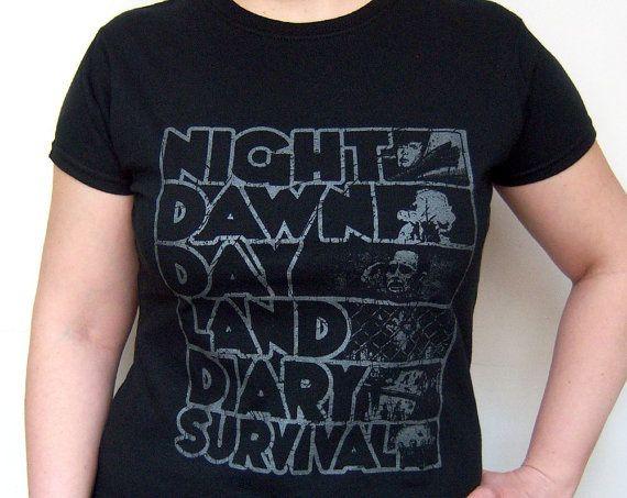 Zombie T-shirt Screenprint Romero Night of the Living Dead Series