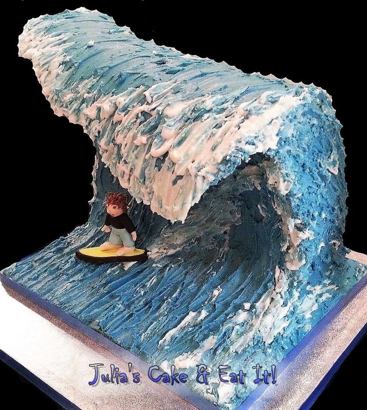 Surfs Up!  Surfing cake for wave catchers.